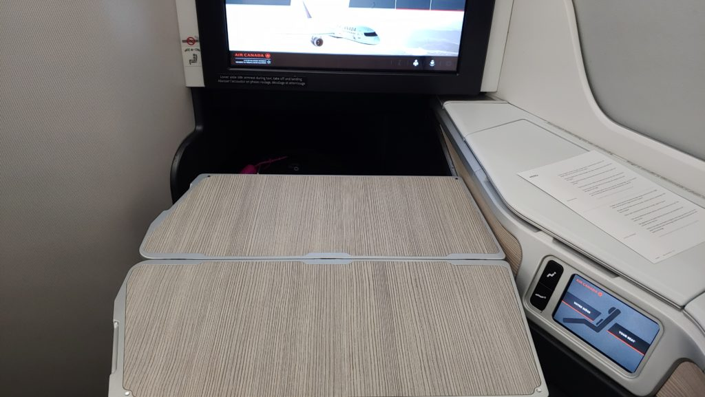 Tray Table Ready for Breakfast
