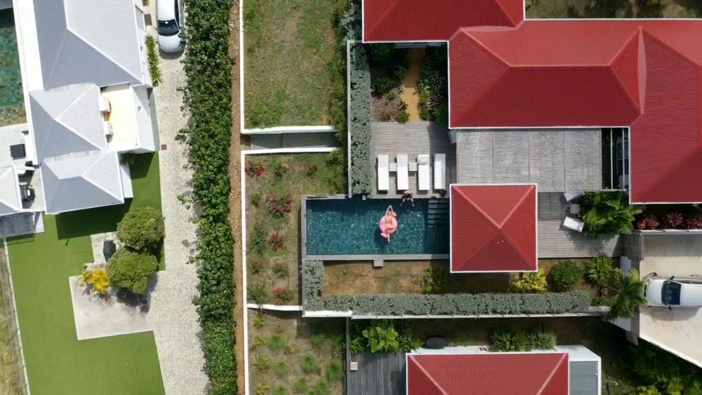 Private Villa Drone Shot St Barthelemy