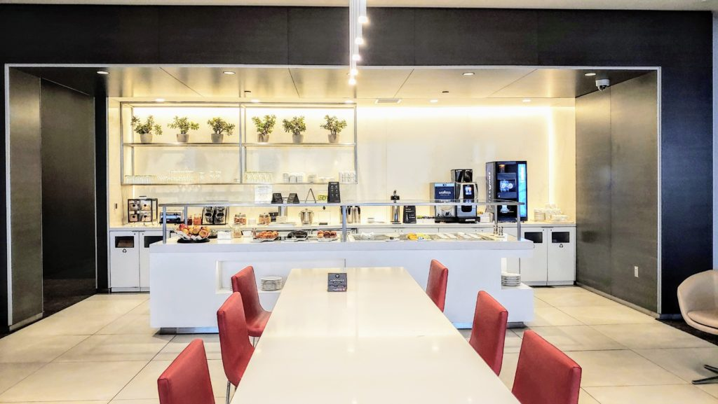 Air Canada Maple Leaf Lounge LAX Dining Area