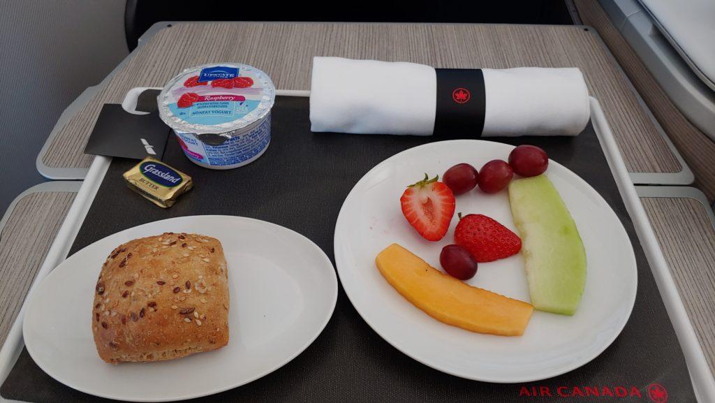 Breakfast Air Canada Business Class