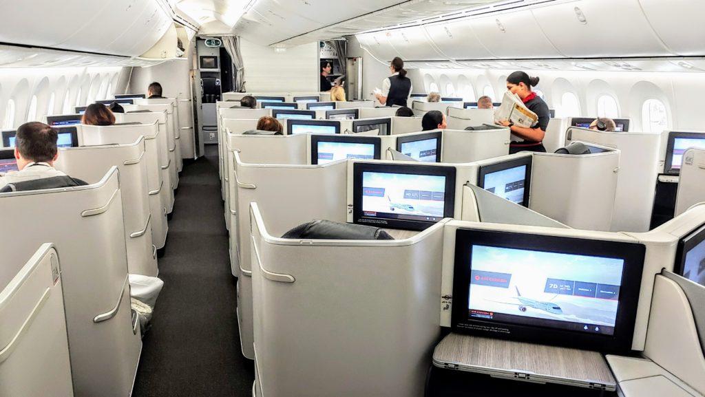 Air Canada 789 Dreamliner Business Class Cabin