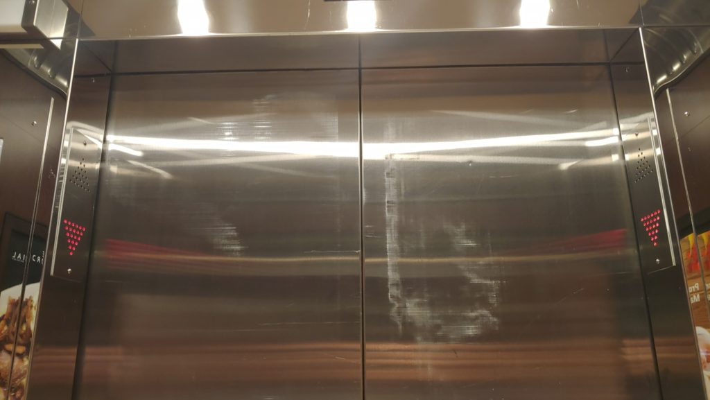 Elevator with Scuff Marks