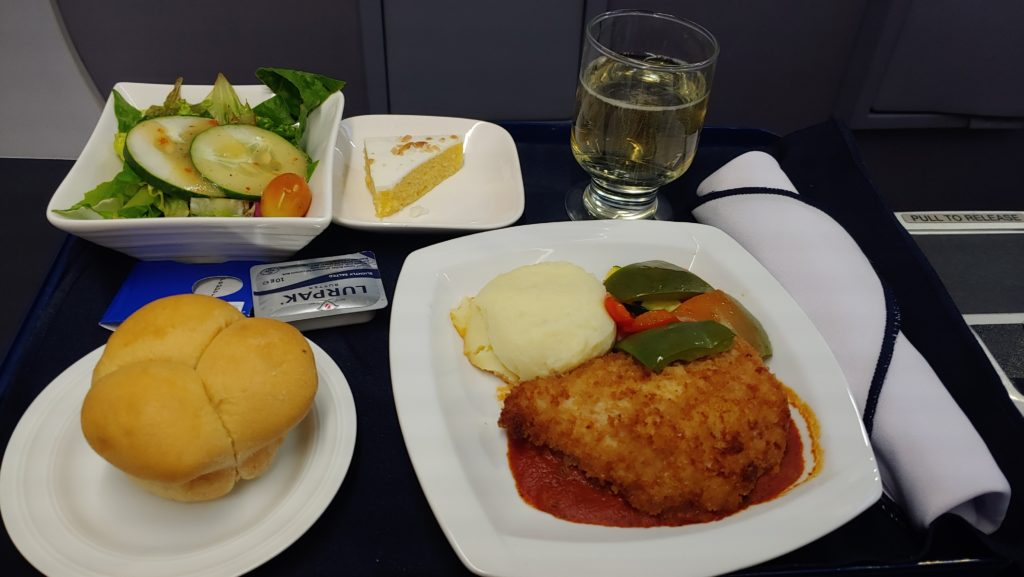 Dinner Copa Airlines Business Class