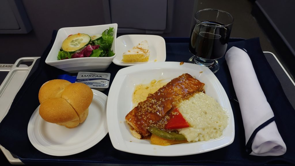 Business Class Food Copa Air